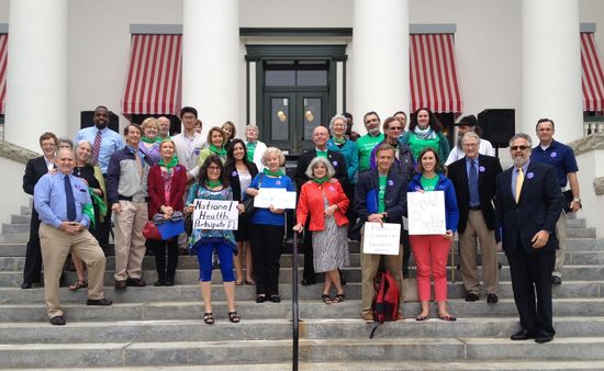 Dr. Tandon joins Gainesville Advocates on the Old Capital Steps