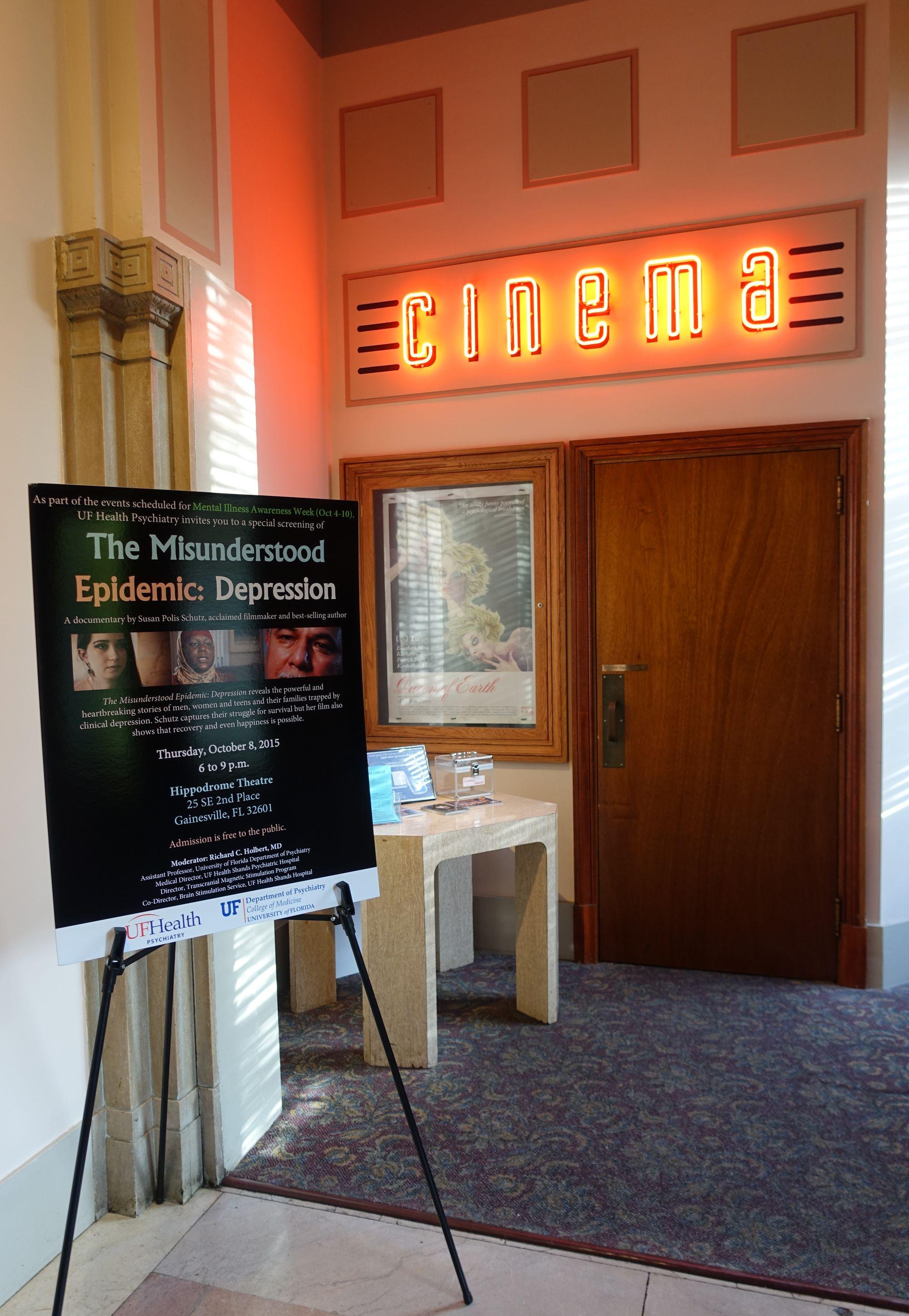 Depression documentary screening at Hippodrome part of