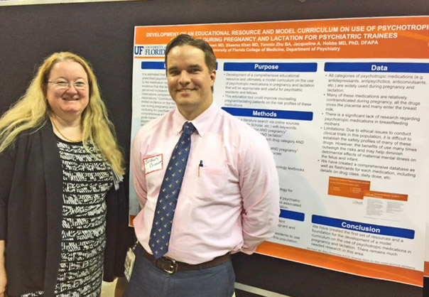 Residency Training Director, Jacqueline Hobbs, MD, PhD and Chief Resident, Jordan Brown, MD present their poster at the 2016 COM Celebration of Research Poster Session