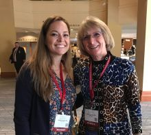 UF Child Fellow Alumni Jessica Prowell, MD and Regina Bussing, MD at the AACAP Conference