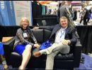Dr. Bussing and Dr. Creelman take a break in between sessions