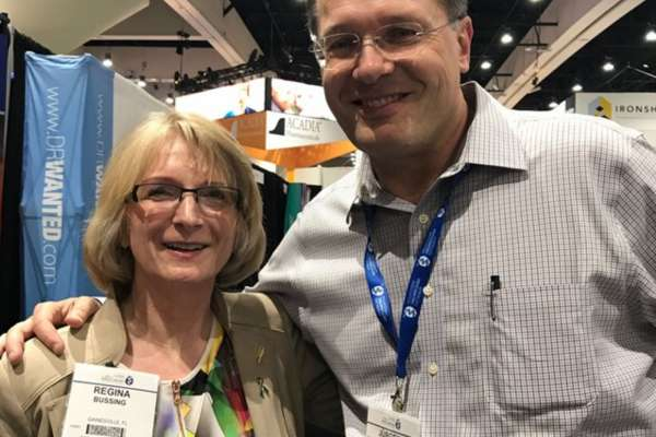 Dr. Regina Bussing and Dr. Jurgen Untuzer at APA