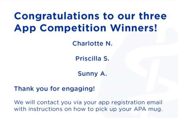 APA Contest Winners