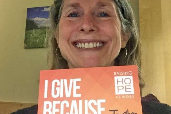 Carol Lewis Raising Hope at Work Selfie