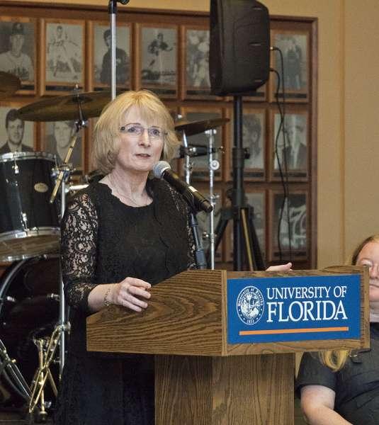 Regina Bussing, MD speaking at Graduation