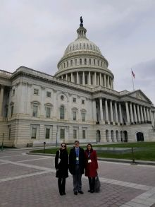 Drs. Hoxha, Shapiro, and Smith in front of Capital Hill