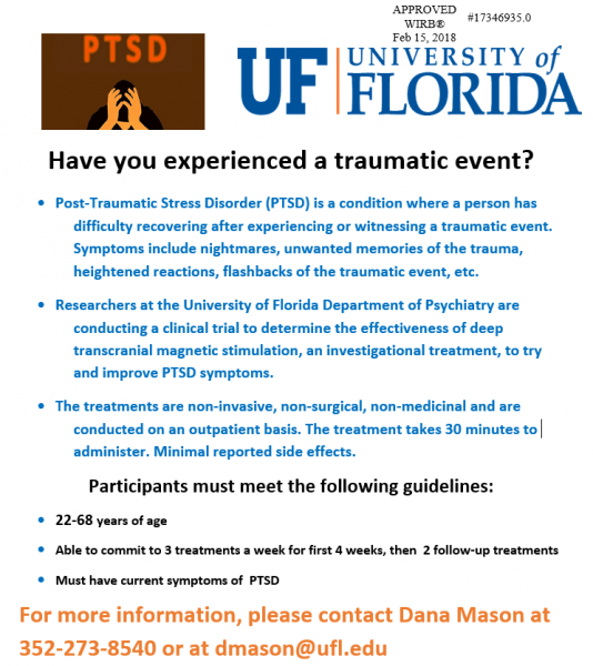 PTSD Clinical Trial Flyer