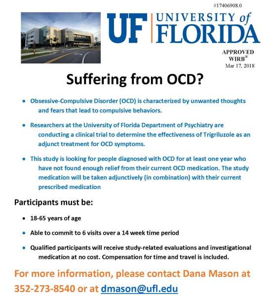OCD Clinical Trial Flyer