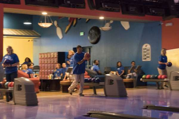 Bowling at the Staff Retreat