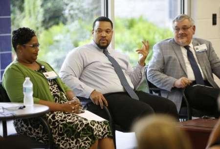 Drs. Jacobs-Elliott and Andres Pumariega at HealthStreet Panel on Minority Mental Health