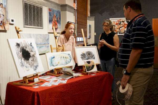Members of AnArtists showcasing their work in the Hippodrome Gallery