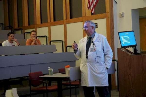 Joseph Thornton Presenting at World Bioethics Day