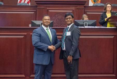 Dr. Nallapula as Doctor of the Day, Florida House