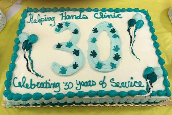 Helping Hands 30th Cake