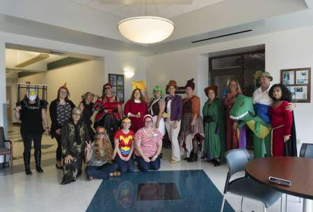 Psychiatry Staff Group Photo Halloween Costumes