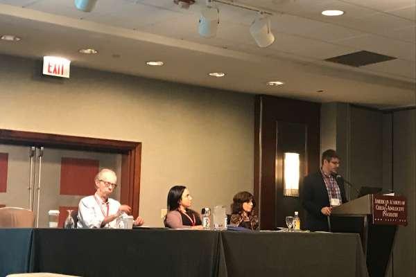 Dr. Shapiro presenting at AACAP