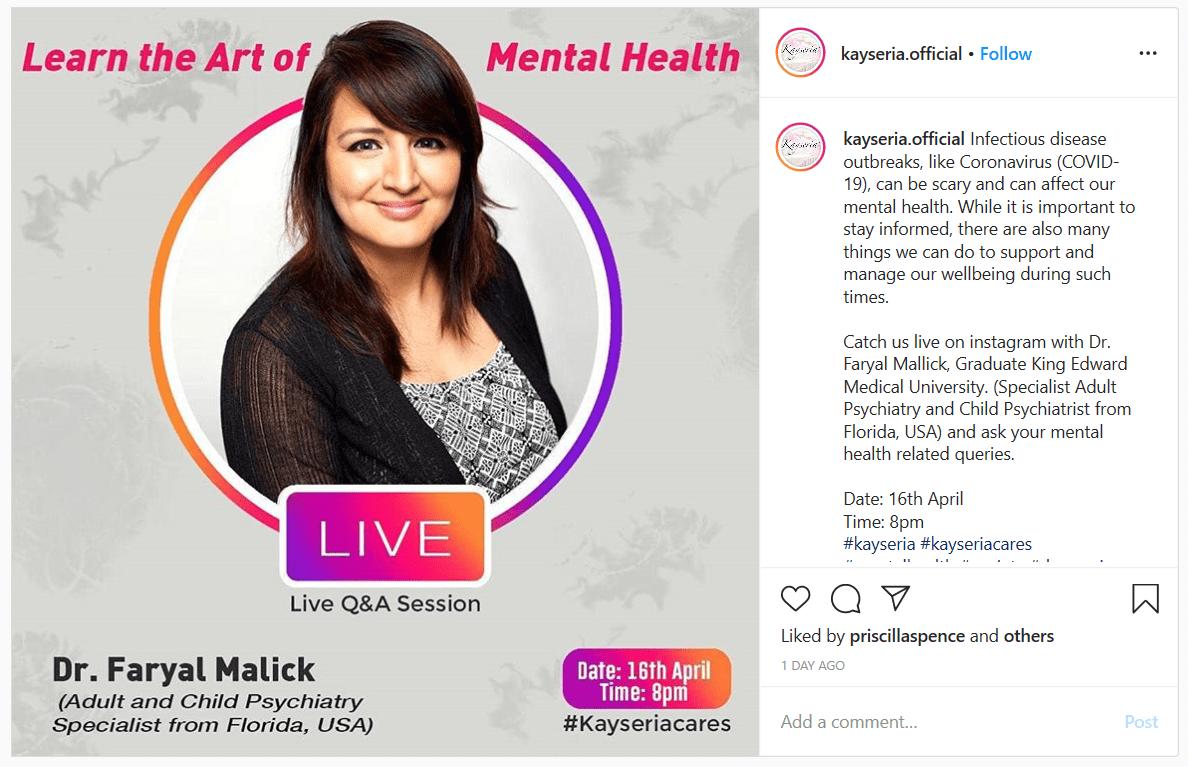 Dr. Mallick Instagram Live