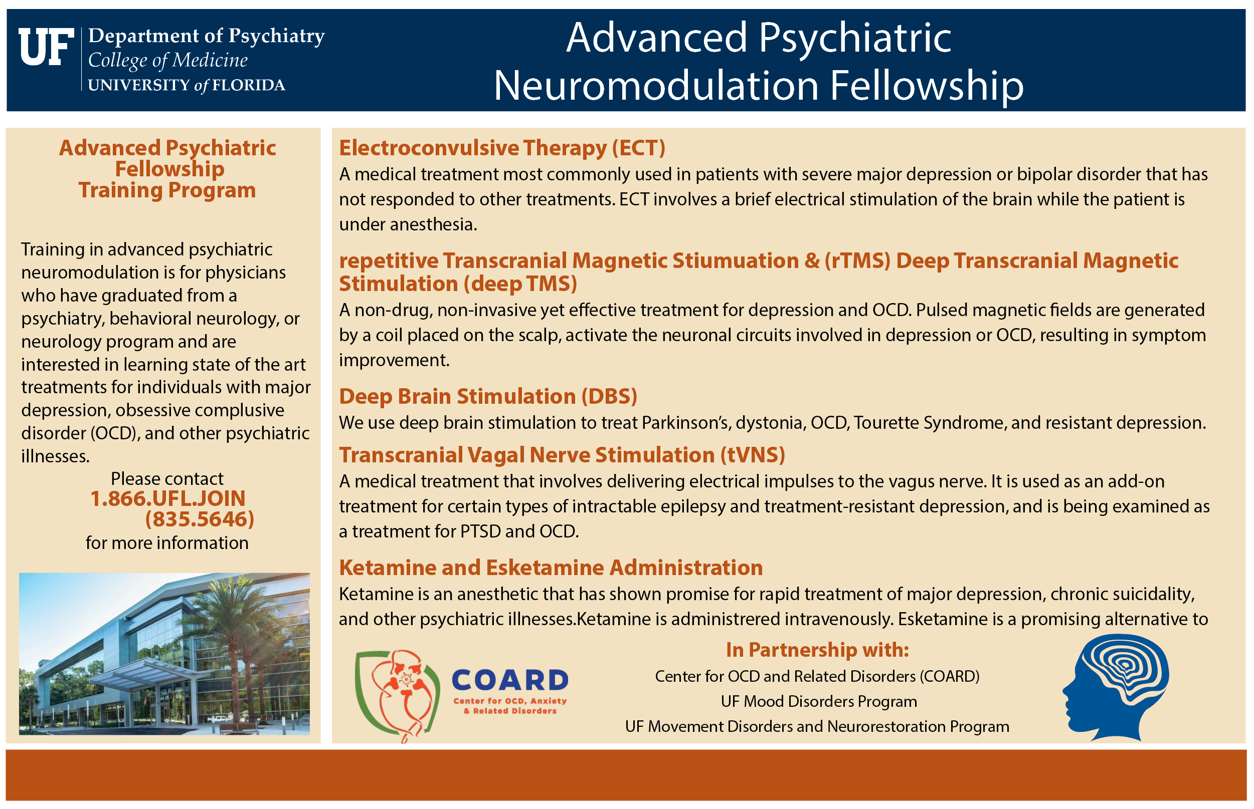 Neuromodulation Fellowship » Department of Psychiatry » College of