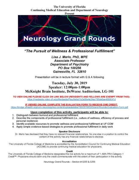 Dr. Lisa Merlo Grand Rounds Flyer