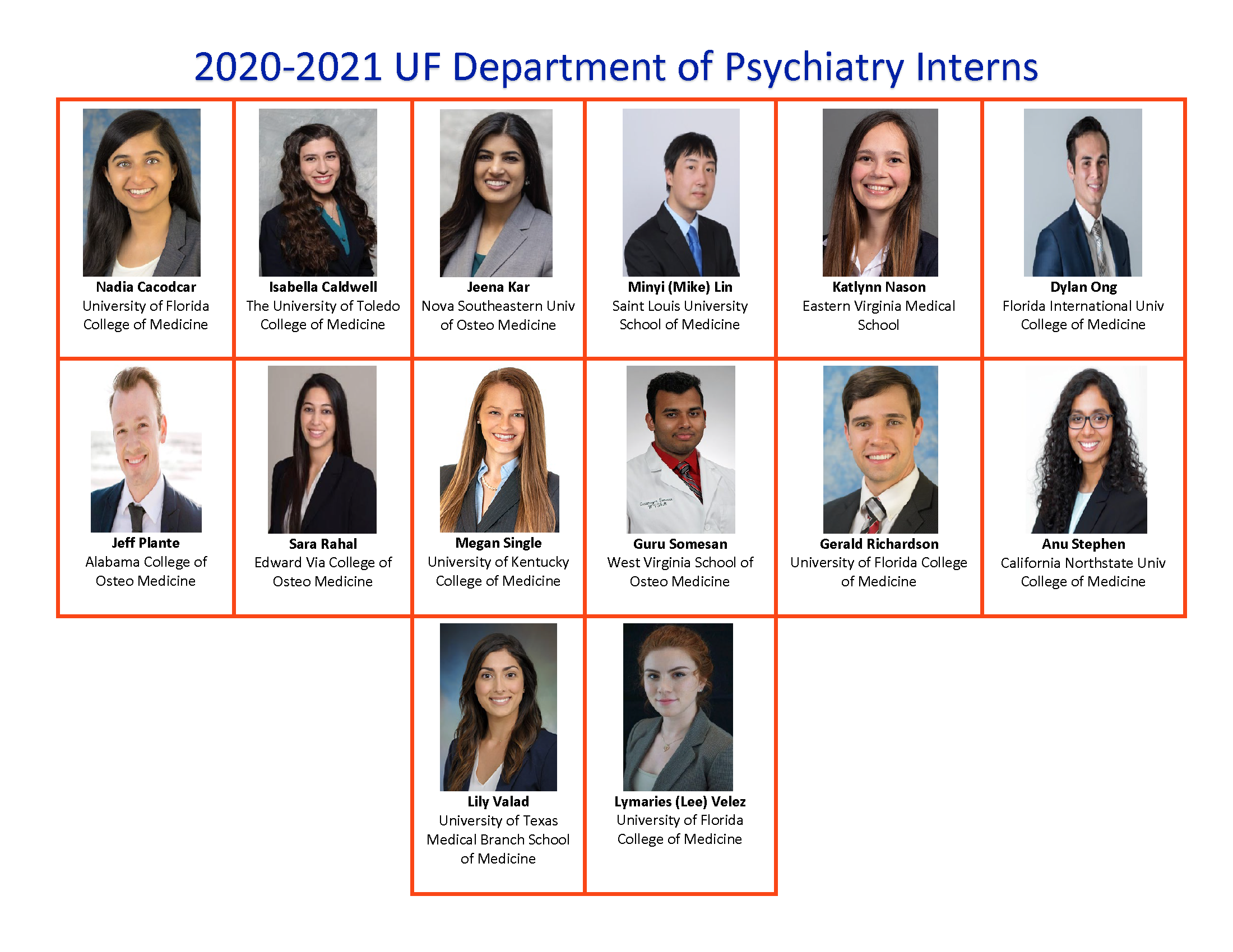 Uf 2020 2021 Calendar 2020 2021 New Residents » Department of Psychiatry » College of