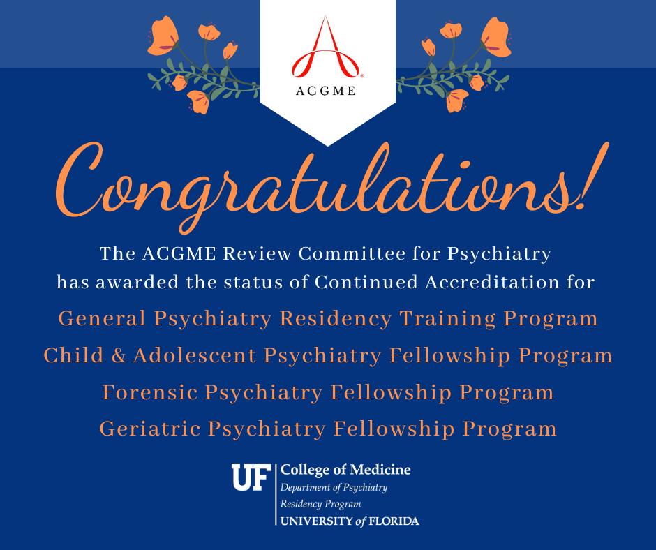 ACGME Accreditation Congratulations