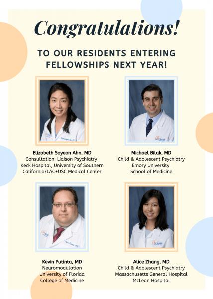 Fellowship Announcement for Drs. Ahn, Bilak, Punita, Zhang